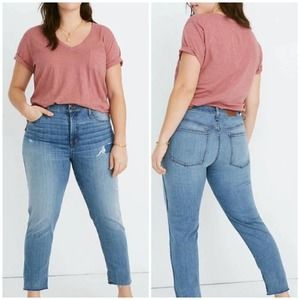 Madewell Stovepipe Holburn Wash Crop Jeans Size 22